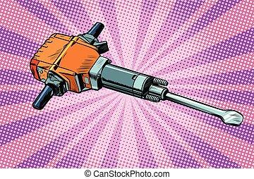 道具, さく岩ドリル, 仕事