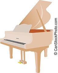 道具, ピアノ, 壮大, -, 音楽