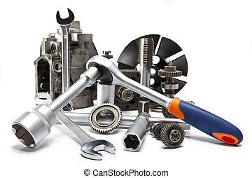道具, 修理, 白い背景