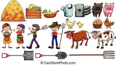 道具, 動物, ∥(彼・それ)ら∥, 農夫