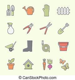 道具, 庭, アイコン