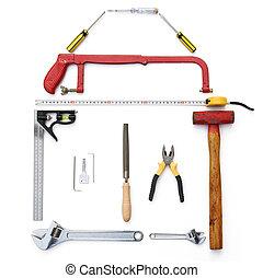 道具, 形づくられた, のように, a, 家, ∥で∥, クリッピング道