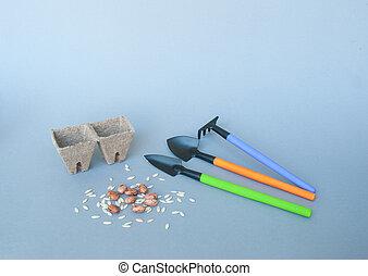 道具, 泥炭, ポット, 庭