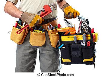 道具, handyman, belt.