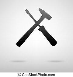道具, icon., 黒
