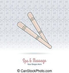 道具, massage., 木製である, タイ人