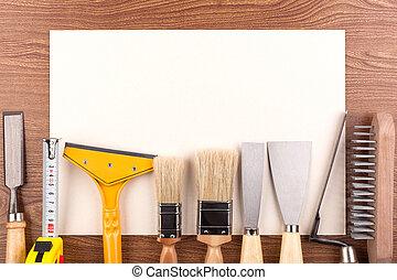 道具, paper., シート, 仕事