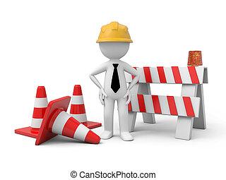 道路封鎖ブロック