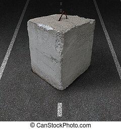 道路封鎖ブロック, 障害