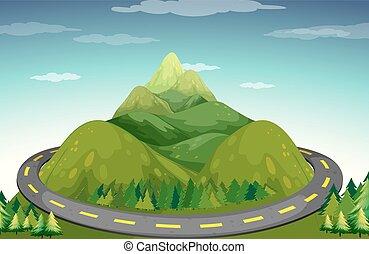 道, そして, 山