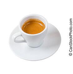 道, コーヒー, エスプレッソ, solated