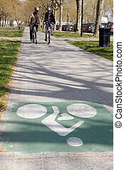 道, サイクリング, 人々