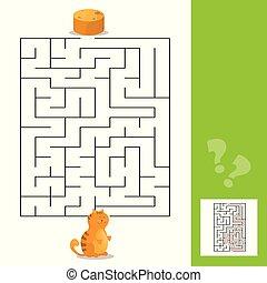 道, パンケーキ, 困惑, 活動, ∥あるいは∥, ゲーム, 子ネコ, 迷路, 漫画