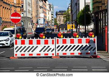 道, ベルリン, 建設, 閉じられた, 障壁