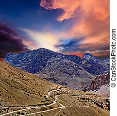 道, 中に, ヒマラヤ山脈