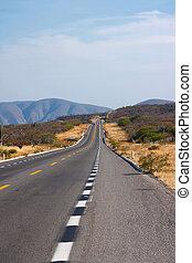 道, 中に, 砂漠