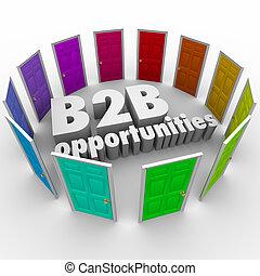 道, 仕事, ビジネス, 機会, ドア, 新しい, 単語, b2b, キャリア