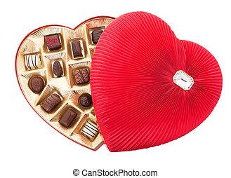 道, 切り抜き, チョコレート, バレンタイン