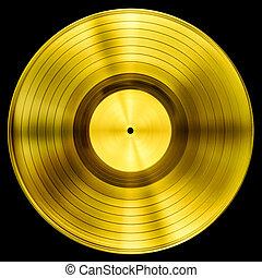 道, 切り抜き, 金, 隔離された, ディスク, レコード, ビニール, 賞, included