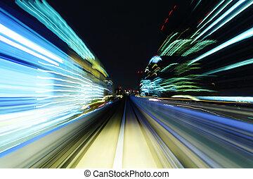 道, 列車, 引っ越し, 速い