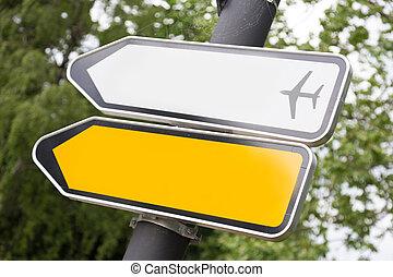道, 印。, 白, 矢, 黄色