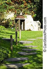 道, 投石される, 日本の庭
