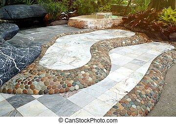 道, 石の庭