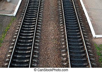 道, 軌道に沿って進む, 一緒に, 2, スイッチ, 鉄道, 来なさい