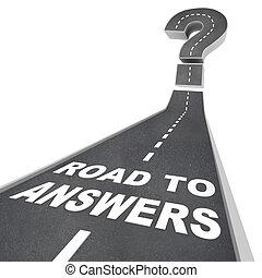 道, 通り, -, 言葉, 答え