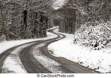 道, 雪が多い