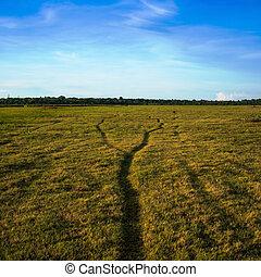 道, 2, 合併しなさい, 1(人・つ), field., 緑