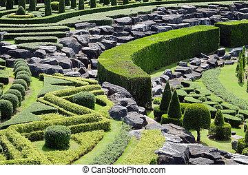 道, topiary の 庭, 風景