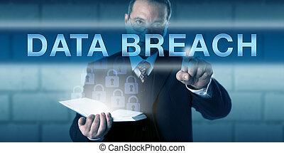 違反, それ, アイロンかけ, 従業者, セキュリティー, データ