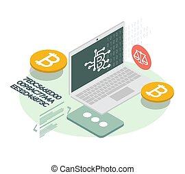 適応, cryptocurrency, -, bitcoin, アイコン