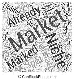 適所, 概念, 単語, マーケティング, affiliate, 雲