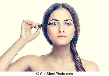 適用, 女, mascara