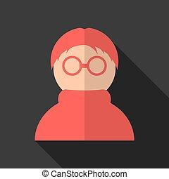 遮蔽, 图标, 匿名, 长期, 红