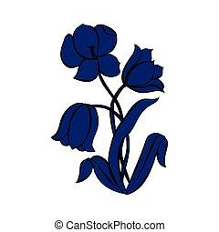 遮蔽, 黑色半面畫像, ......的, tulips.