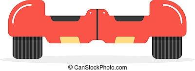 遮蔽, hoverboard, 红, 图标