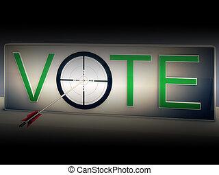 選びなさい, ターゲット, 選択, 選択, 投票, ショー
