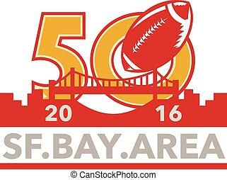 選手権, 区域, プロ, フットボール, 50, 湾, 2016, sf