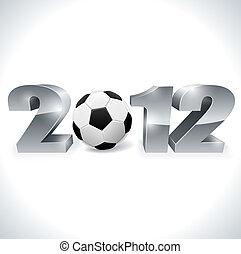 選手権, eps10, シンボル, フットボール, バックグラウンド。, 白, ユーロ, file., 2012