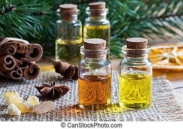選択, アニス, ブランチ, 星, 松, 不可欠な滑油, シナモン, frankincense