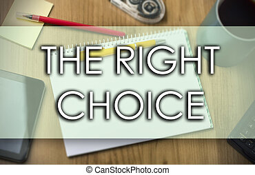 選択, ビジネス, テキスト, -, 権利, 概念