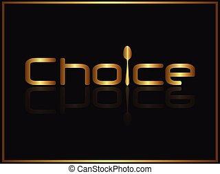 選択, 食物, ロゴ, デザイン