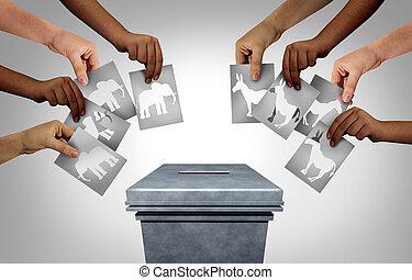 選挙, アメリカ人