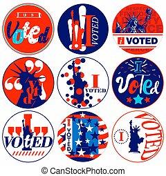 選挙, バッジ, voted, キャンペーン, 大統領である