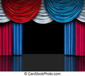選挙, プレゼンテーション, ステージ