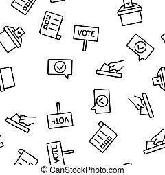 選挙, ベクトル, パターン, seamless, 投票