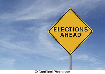 選挙, 前方に